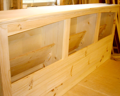 Pine Bed with bookcase