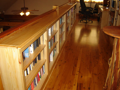 Old Lake Woodshop Solid wood cypress bookcases,custom made