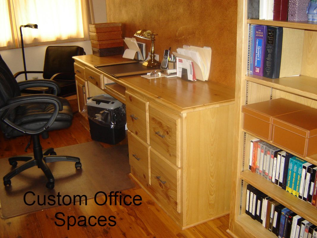 Solid Cypress Desk with Drawers