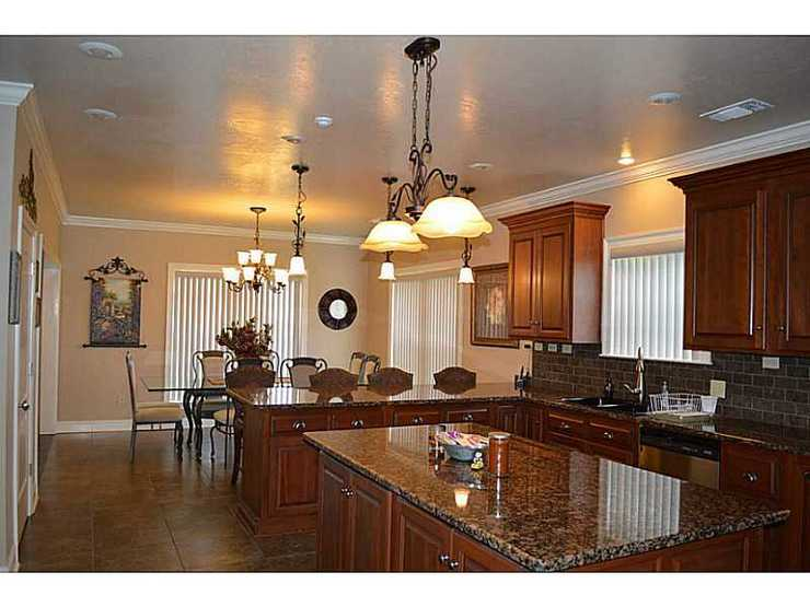 Solid Wood Custom Kitchen.Cherry with Granite counters