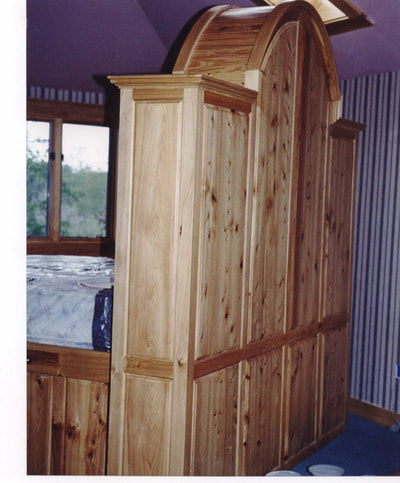 Solid Cypress Panels Bed